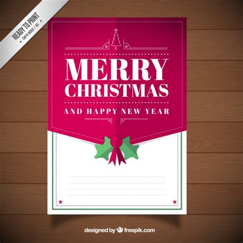 merry christmas and happy new year card template vector