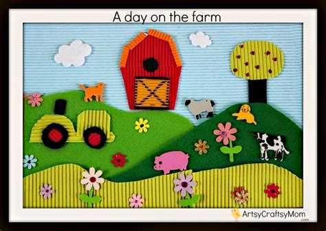 collage crafts for on the farm thematic collage for artsy