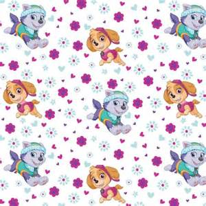 paw patrol pup power licensed 44 quot cotton fabric yard walmart