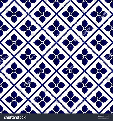 china blue pattern vector seamless porcelain indigo blue white simple stock vector