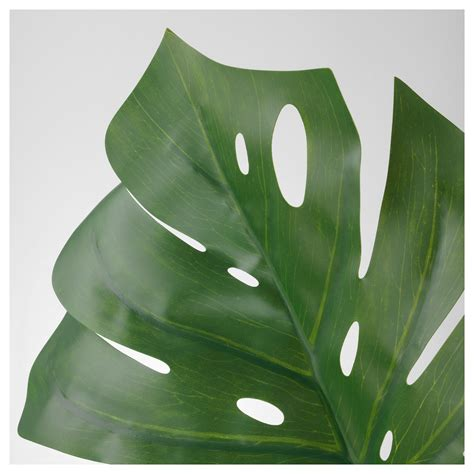 ikea leaves smycka artificial leaf monstera green 80 cm ikea