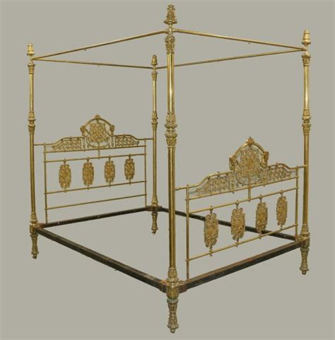 victorian canopy bed victorian brass canopy bed