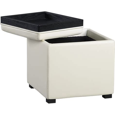 crate and barrel stow storage ottoman crate and barrel stow blanco leather storage ottoman