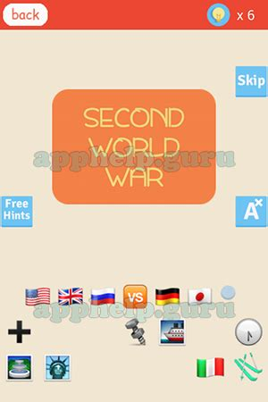 second world war emoji find the emoji level second world war answer game help guru