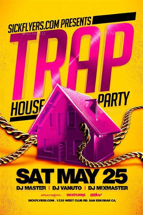 house party flyers design trap house party flyer template http ffflyer com trap house party flyer template