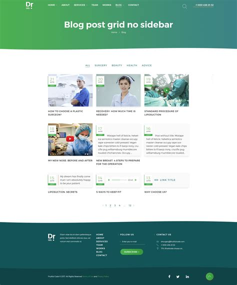 blog grid dr plastic surgery psd template by fruitfulcode