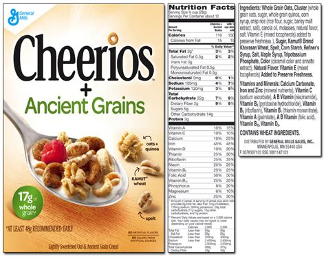 whole grains in cheerios cheerios ancient grains