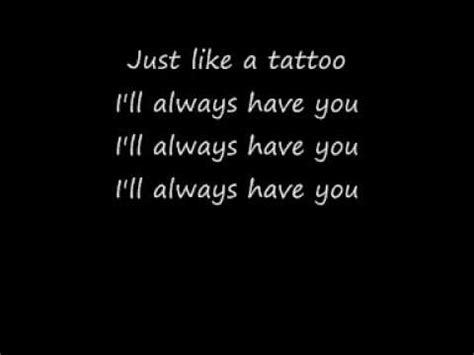 jordin sparks tattoo  lyrics youtube