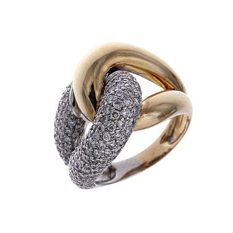 anello pavè diamanti anello pav 195 168 stilizzato bicolore con 196 diamanti ct 1 72
