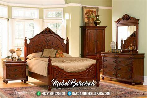 set kamar tempat tidur minimalis jati jepara terbaru mb