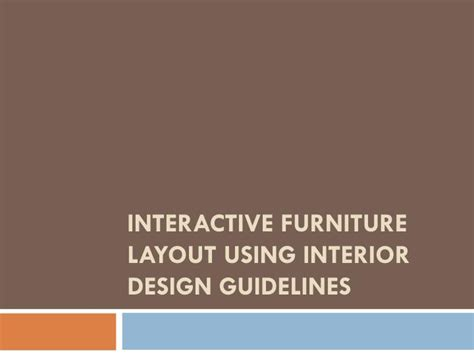 powerpoint design guidelines ppt interactive furniture layout using interior design
