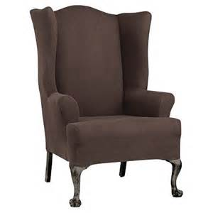 stretch twill wing chair slipcover sure fit target