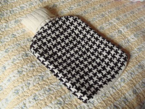 houndstooth knit pattern easy water bottle cozy baby projects