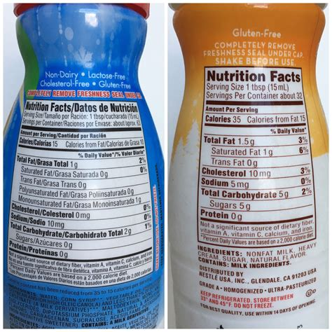 Nutrition Facts For Coffee Mate Creamer ? Nutrition Ftempo