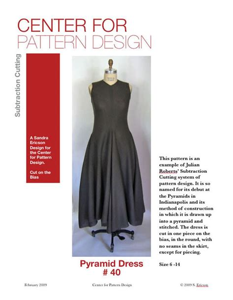 pattern cutting dress design the pyramid dress pattern sewing pinterest sy