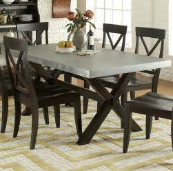 metal top dining room table liberty furniture keaton ii rectangle trestle dining table