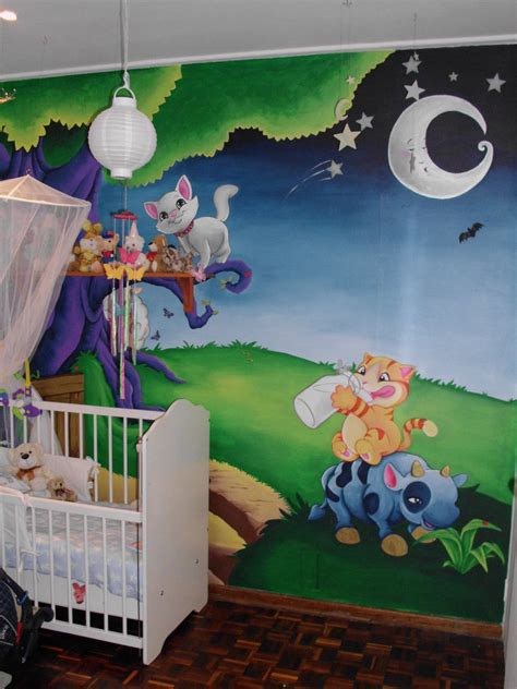 wall murals for baby rooms baby room wall mural by justinmain on deviantart