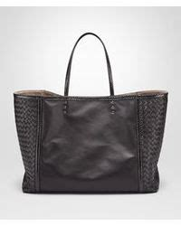 Bottega Nero Intreciatto Napa Tote Bag Handbag Tas Brande lyst bottega veneta tote bag in nero nappa ayers details in black