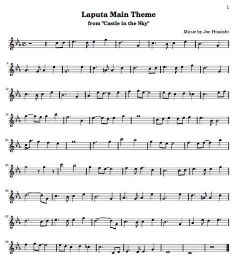 musique film ghibli partition musique le chateau ambulant