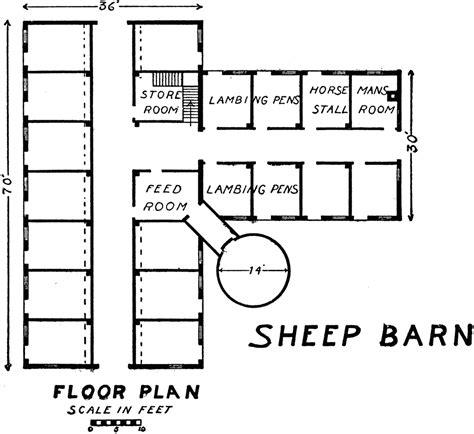 sheep barn clipart
