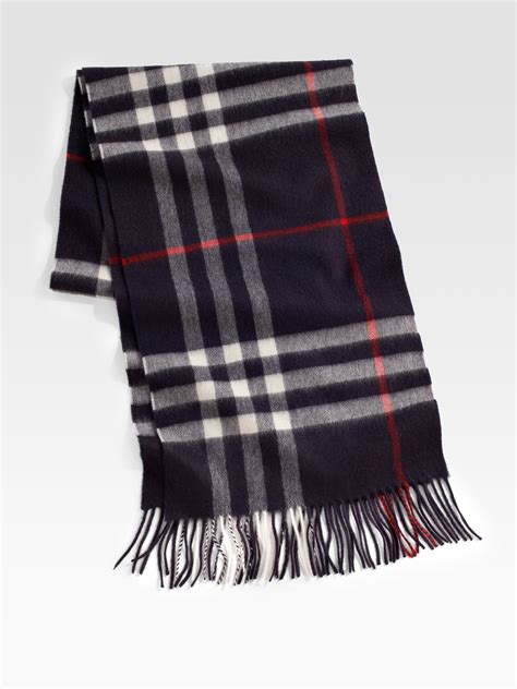 burberry check scarf in black for lyst