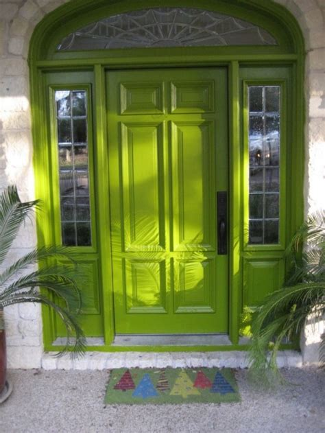 green front door green front doors showcasing the environment