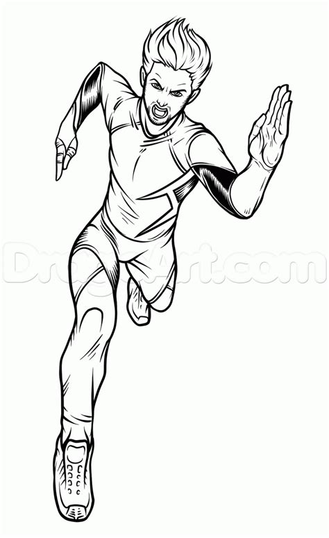 quicksilver marvel coloring pages how to draw avengers 2 quicksilver sketch coloring page