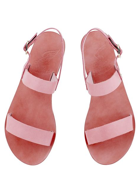 pink sandals ancient sandals clio pink leather sandal in pink lyst