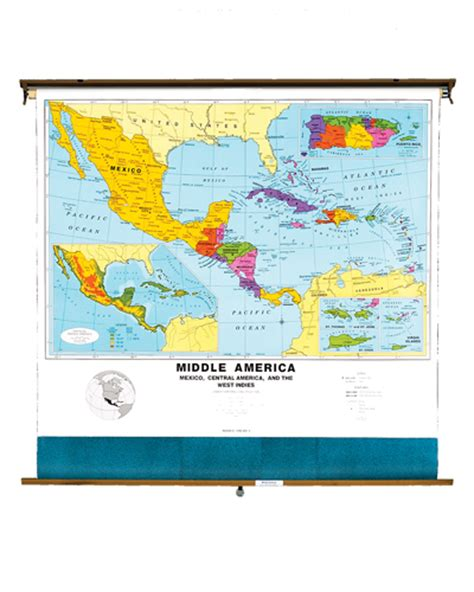 middle america map roller maps middle america political map