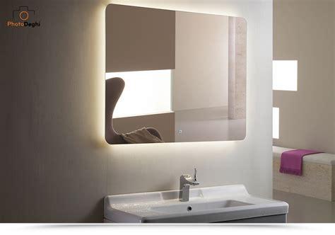 Bagno Specchio Specchiera Led Per Bagno 120x90 Cm Design Stondato Con