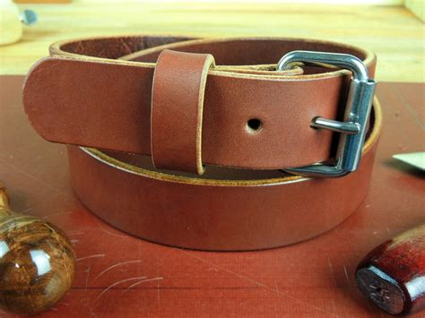Handmade Leather Tool Belt - 150 1 1 2 quot heavy duty leather work ccw gun holster belt