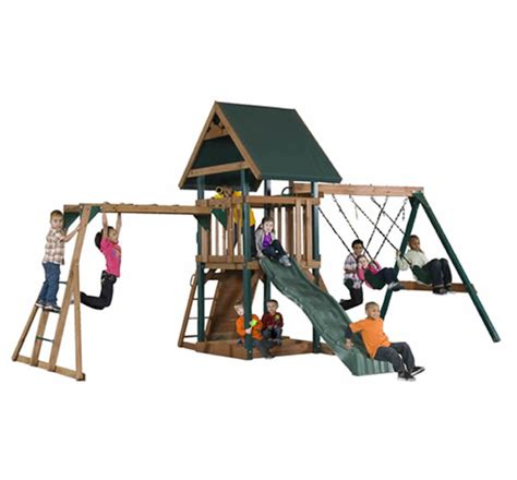 sheds and swings playground playsets lifetime multi color earthtone