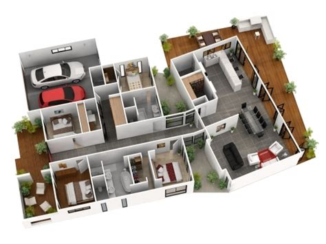 Outstanding ordinary 4 bedroom 2 5 bath house plans 6 3d floor story 2500 sq 5 bedroom 3d house