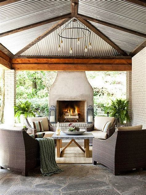 outdoor living room with fireplace outdoor living room wicker brick get the look cococozy