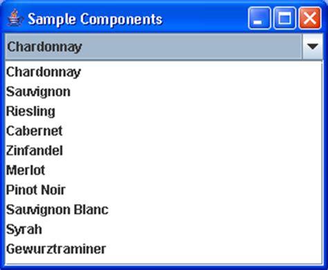 java swing jlist exle color combobox comboboxeditor demo combobox 171 swing jfc