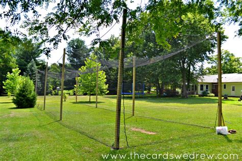 backyard batting cage how to build a batting cage