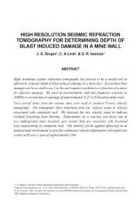CDC - Mining - High Resolution Seismic Refraction