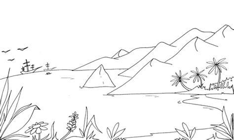 imagenes de paisajes sin color imagenes de dibujos para pintar e imprimir de paisajes