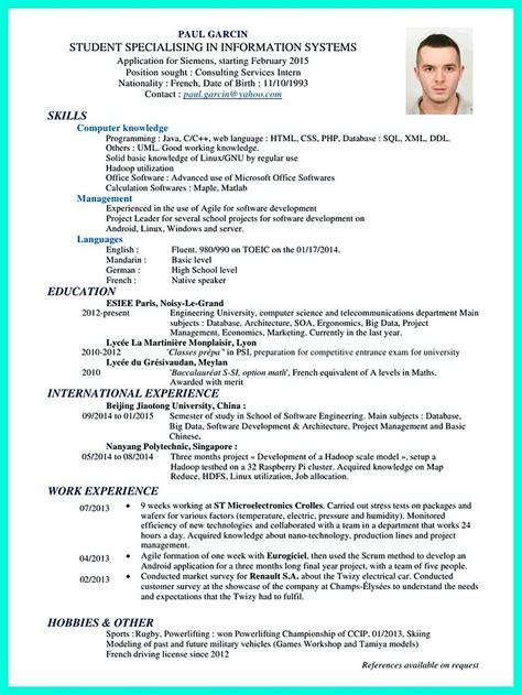 pin  resume sample template  format resume format