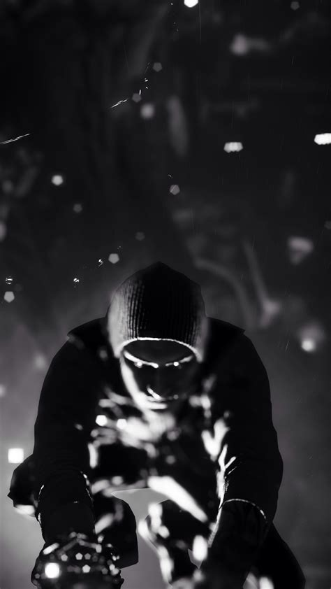 infamous  son black  white iphone   hd