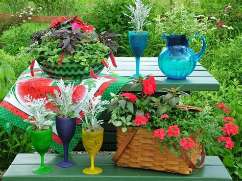 Picnic Gardens by Spruce Up Your With Garden Containers
