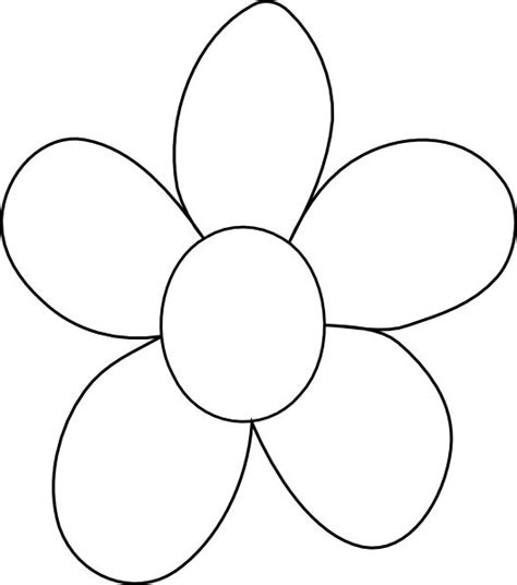 clipart of flowers coloring pages flower outline printable big flower clip art vector
