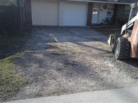 crumble concrete driveway repair before