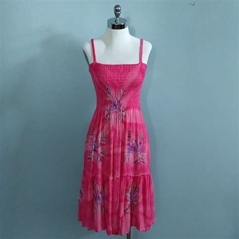 Smock Top Floral Dress Like Gucci by Sale Floral Smock Top Ruffle Skirt Hawaiian Dress S From