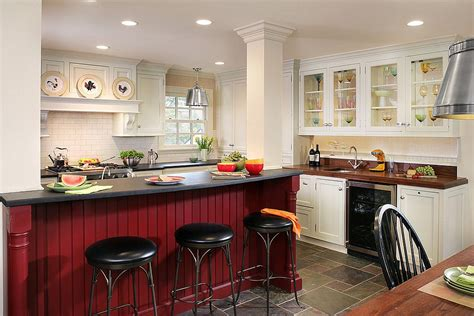 red kitchen island 25 colorful kitchen island ideas to enliven your home