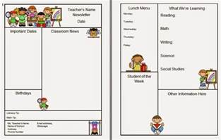 classroom newsletter templates warren sparrow classroom newsletter template
