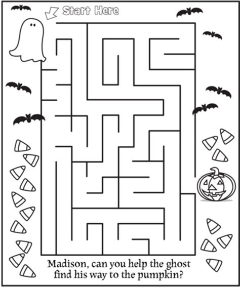 halloween coloring pages mazes free halloween coloring page frecklebox