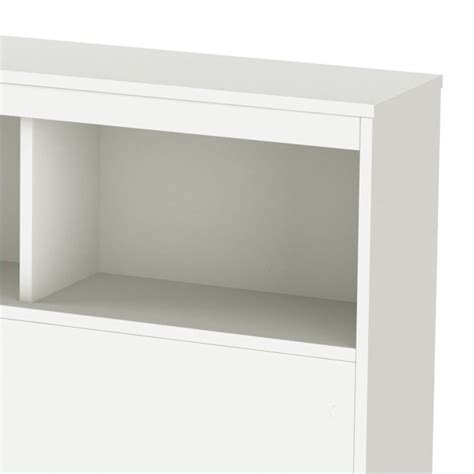 white headboard with shelves south shore affinato full bookcase headboard in white