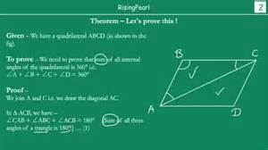 Quadrilateral Sum Of Interior Angles by Sum Of All Angles In Quadrilateral Is 360 176 Theorem And