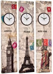 time decor 90cm canvas working clock wall picture retro